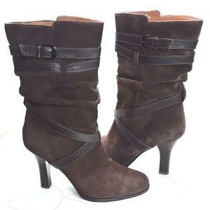 Sofft' Balsov Coffee Suede Leather Boots Sz. 8M